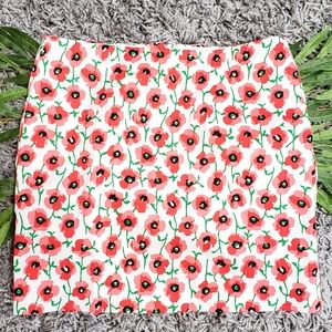 J. Crew Stretch Skirt Poppy Floral Size 0